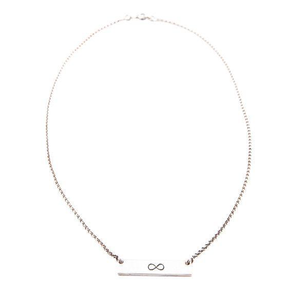 fine chain necklace | sterling silver | infinite