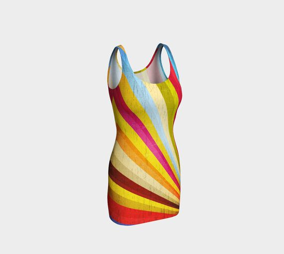 Grunge rainbow bodycon dress, rainbow dress, rainbow pride, retro rainbow