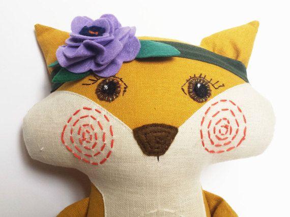 Fox stuffed animal Fox toy Dress up doll Fox rag doll Soft