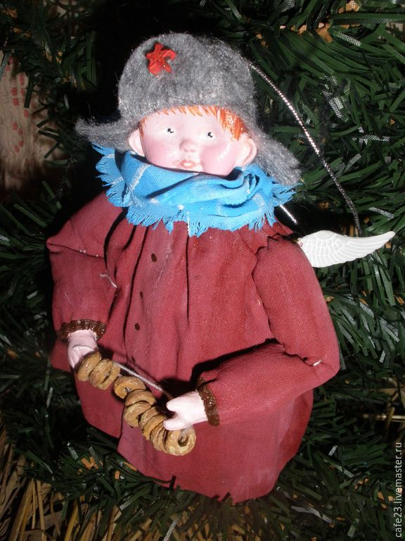 """Купить Ретро игрушка подвеска """" Герой с бубликами ..."""" - коллекционная кукла, коллекционные игрушки"""