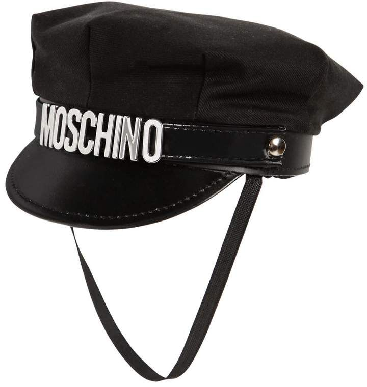 Moschino Cotton Hat W  Logo Lettering  9eaaa2a0b15c
