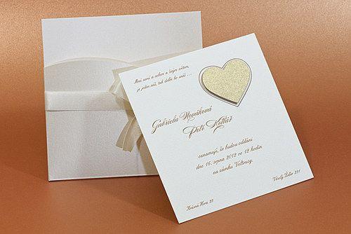 Svatební oznámení kapsa se srdcem