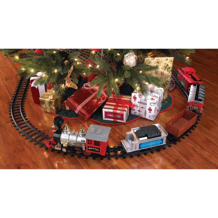 Blue Hat Christmas Train Set - $47