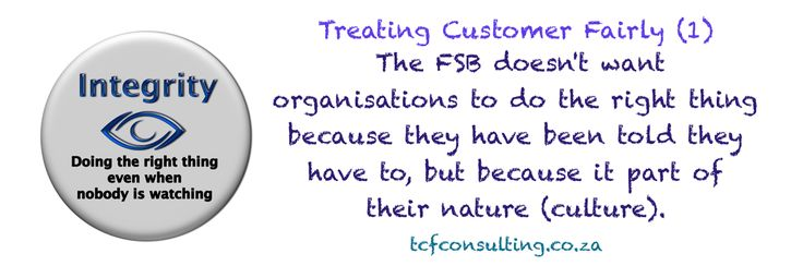 Treating Customer Fairly (1) Culture and Governance