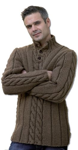 King Cole knitting pattern for men's sweater