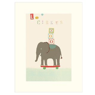MAILEG CIRCUS ELEPHANT POSTER - $18.00 - This adorable and whimsical Maileg Poster adds the perfect finishing touch to your child's nursery, bedroom or playroom.   Dimensions: 40cm x 30cm #sweetcreations #kids #bedroom #nursery #playroom #decor #maileg #circus