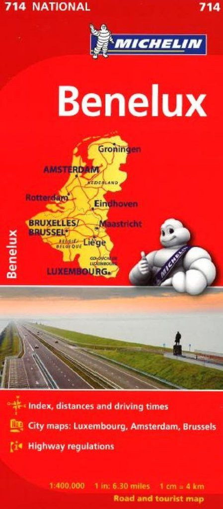 Buy map: Benelux- Belgium, Luxembourg, and the Netherlands (714) by – YellowMaps Map Store