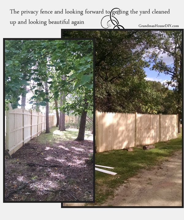 Some day we plan on taking the fence another few panels down to our property line, right now it only goes about half way but it sure looks nice though! Those fence panels were only $27 at home depot! What a deal! @GrandmasHousDIY