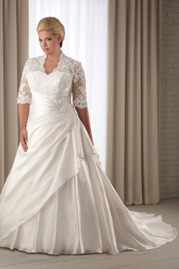 wedding dress hire cape town northern suburbs%0A Half Sleeve Lace Wedding Dress Bridal Gown Custom Plus Size