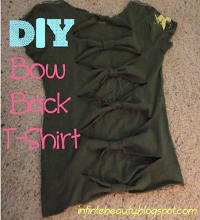 Beauties Harmony: Get The Look: Brandy Melville! DIY bow back shirt with NO SEWING