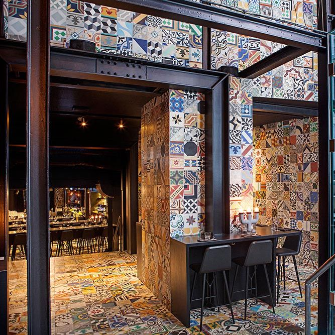 Llama Restaurant by Lars Larsen and Jakob Lange for Cofoco in Copenhagen. Copenhagen restaurant group Cofoco has teamed up with some of the city's most creative forces - Kilo founder Lars Larsen (Kilo) creative advisor Jonas Hartz (Hz), BIG partners Jakob Lange and Bjarke Ingels (BIG) - to create the new restaurant Llama - Restaurante Sudamericano