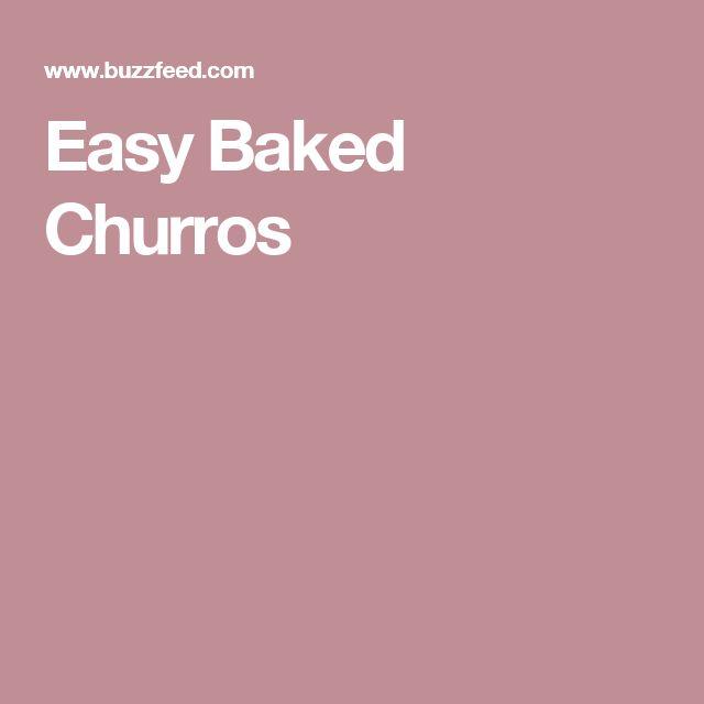 Easy Baked Churros