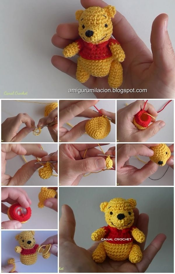 Heres the link to the tutorial >> How to Make Winnie Pooh Amigurumi