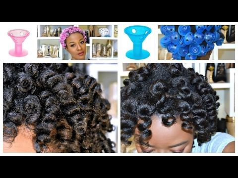 Get Perfect Curls : TWO Ways - 4C Natural Hair & Spoolies Hair Curlers: No Heat CURLS! - YouTube