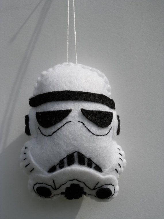 Felt Star Wars Ornament Storm Trooper Ornament by FeltLikeIt1