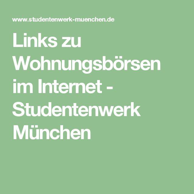 Links zu Wohnungsbörsen im Internet - Studentenwerk München