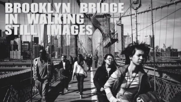 Il ponte di Brooklyn attraversato da 1.177 foto di Jeremy Meek