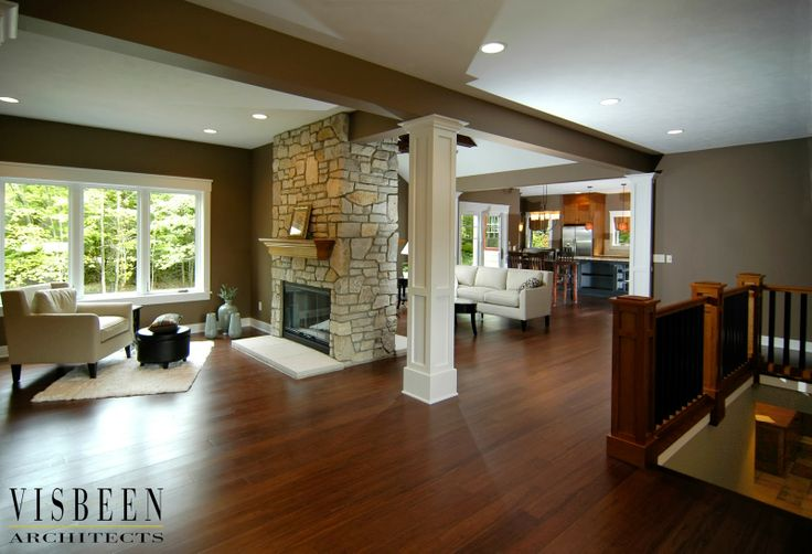 Great Space With A Two Sided Fireplace Living Rooms