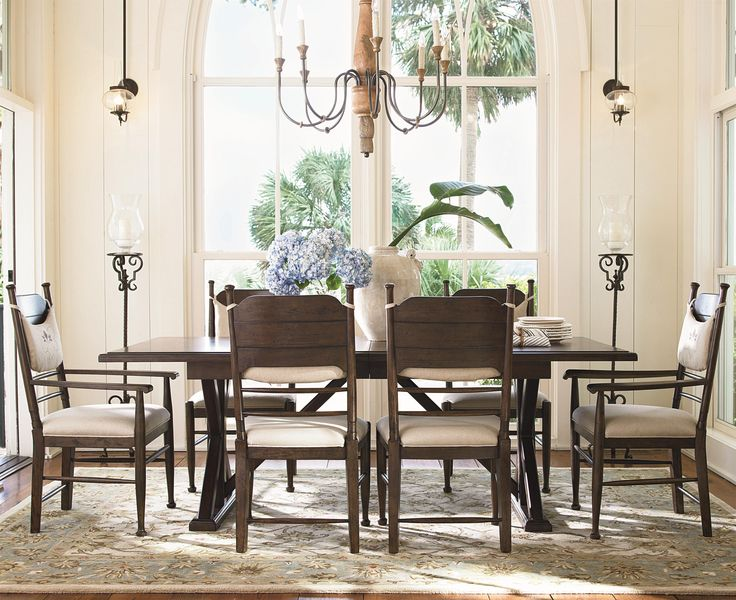 Wood Dining Table With An Extendable Leaf. Product: Dining  TableConstruction Material: WoodColor: Distressed MolassesFeatures: Part Of  The Paula Deen Home ...