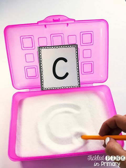 Use these FREE ABC cards along with salt in a pencil box for students to write their letters