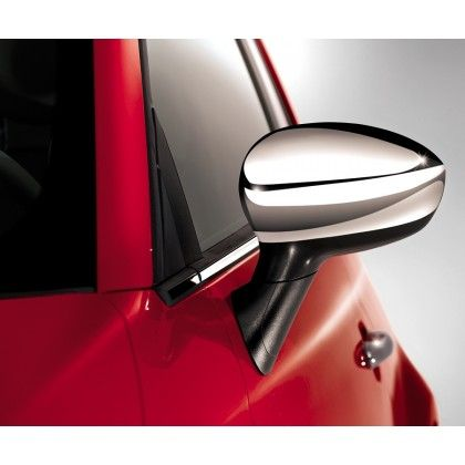 Fiat 500 Chrome Side Mirror Covers