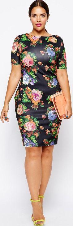 cutethickgirls.com floral plus size dresses (14) #plussizedresses