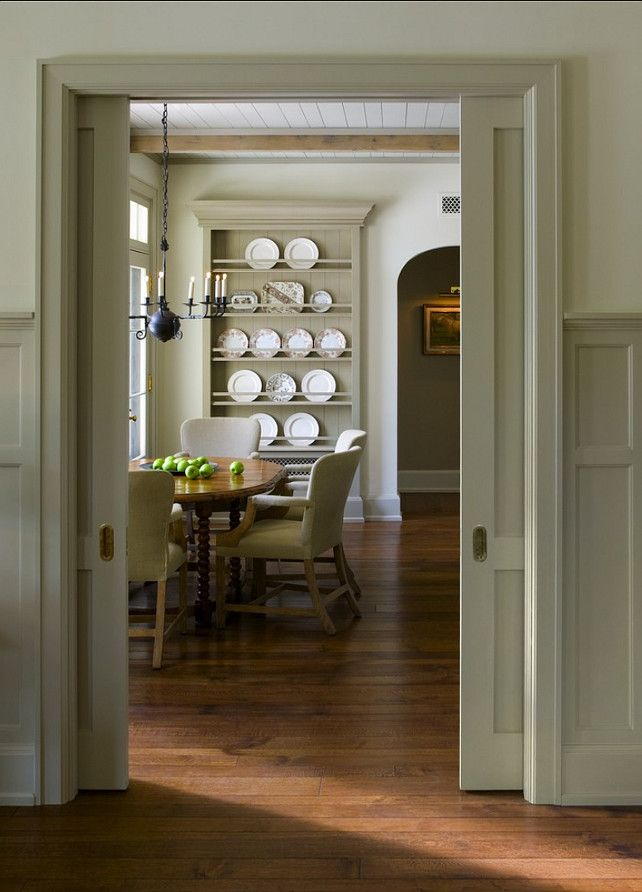 Love the shelving....would be great to design this to house platters