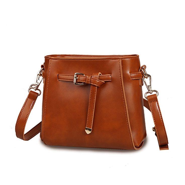 Hot Sale Women Bucket Bags PU Leather Vintage Casual Small Shoulder Bag Female Designer Brand Crossbody Handbag Sac Femme Bolas