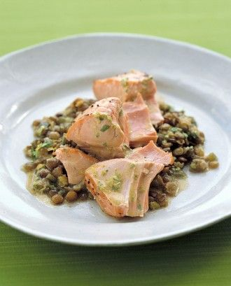 """See the """"Roasted Salmon With Lentils"""" in our  gallery"""