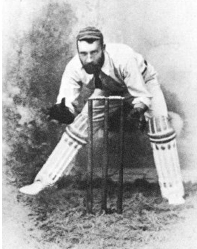 """2-John McCarthy Blackham. He was a specialist wicket-keeper, He played in the first Test match at the Melbourne Cricket Ground in March 1877 and the famous Ashes Test match of 1882. Such was his skill that he became known as the """"prince of wicket-keepers"""". He was Australia's regular wicket-keeper from 1877 to 1894 and late in his career, he captained the Australian team."""