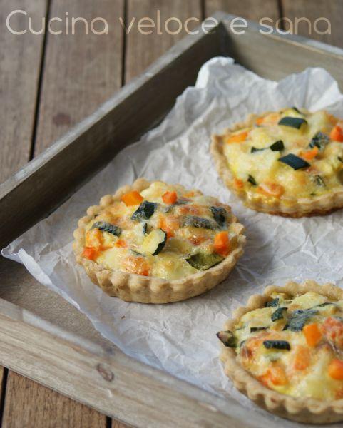 Crostatine salate alle verdure   Cucina veloce e sana