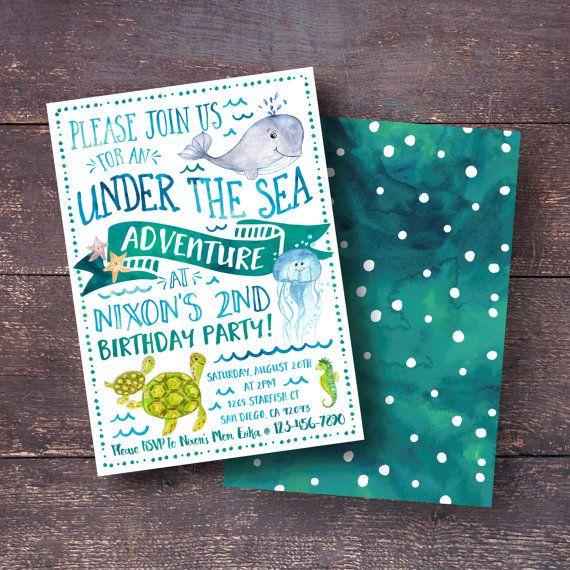 25 best ideas about Underwater birthday – Ocean Party Invitations