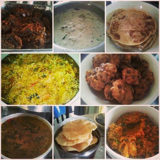 Hyderabadi Sunday Feast - Biryani, Vada, Papad, Puran Poli (Bobbattu), Egg Plant(Baingan), Raita, Dal and Tomato Pickle(pacchadi)!