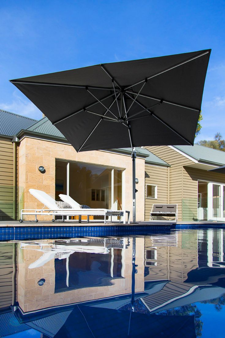We are now stocking a quality range of shade umbrellas at Sticks + Stones Outdoor. Umbrellas for the backyard or pool area, fixed or mobile base, and wall-mounted options available. Various colours and sizes. Our Aurora Side Post Umbrella is a lightweight and compact cantilever umbrella that will suit your outdoor space.#outdoor#shadeumbrella#outdoorumbrella#outdoordesign