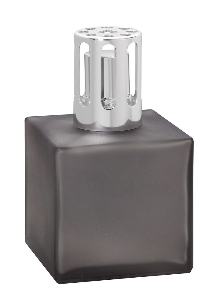 Popular Lampe Berger Encrier Cube Gift Set with Harvest Season Fragrance Simple and stylish cube in satin frosted grey laquered finish