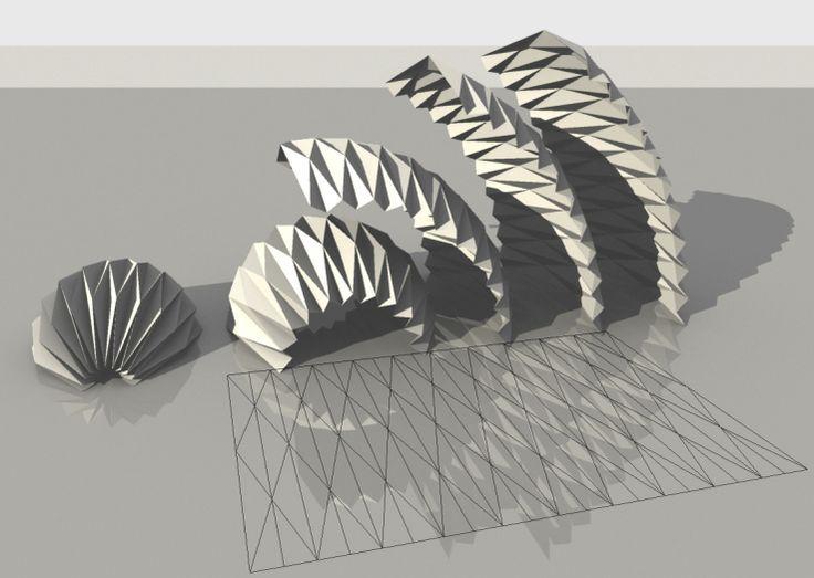 Parametrischer Origami Von mLab_CasaleValentiCalvano