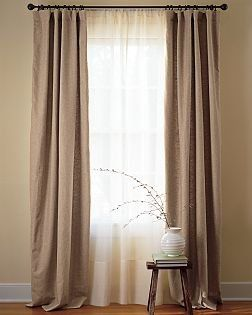 Drop Cloth curtains- for living room