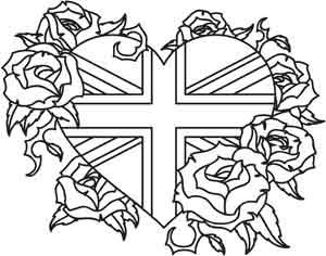 Union Jack and Roses | Urban Threads: Unique and Awesome Embroidery Designs