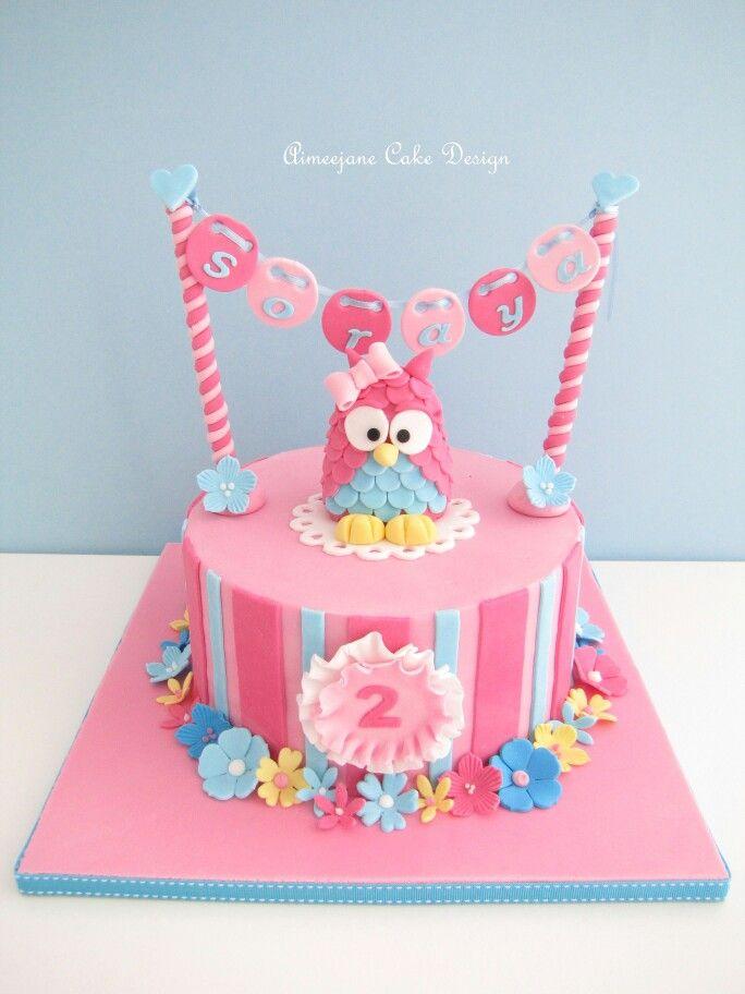 Stunning owl cake
