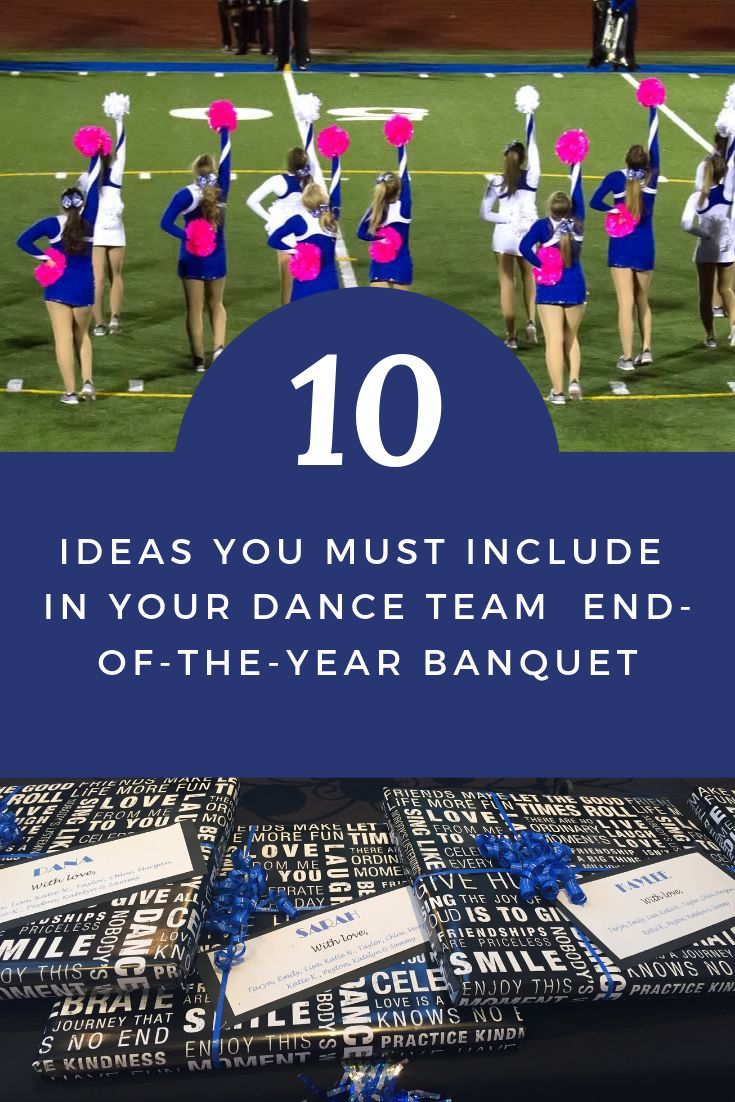 10 Ideas To Include In Your End Of The Year Banquet Passionate Coach Cheerleading Award Dance Team Gifts Dance Coach