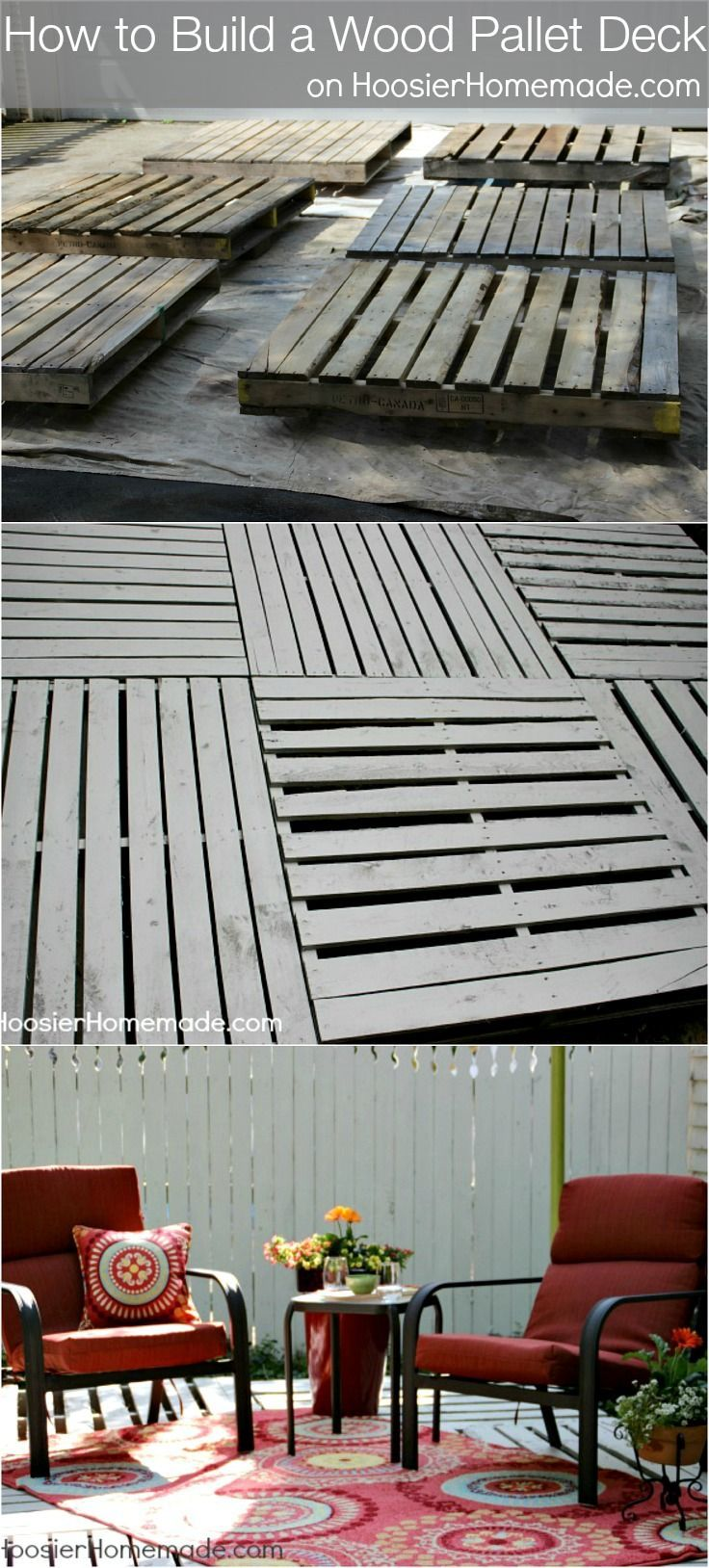 Best 25 pallet patio ideas on pinterest pallet for How to make a pallet deck
