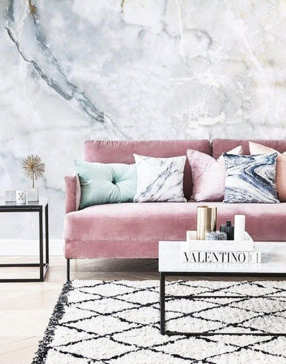 White Marble Wallpaper Removable Mural Self Adhesive Wallpaper Peel Stick Marble Wall Mural Light Stone Wallpaper Remove Wall Mural 52 Living Room Inspiration Pink Pink Living Room Room Inspiration