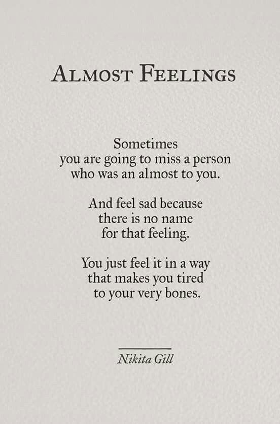 Almost Feelings