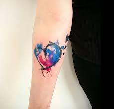 Resultado de imagem para watercolour heart tattoos