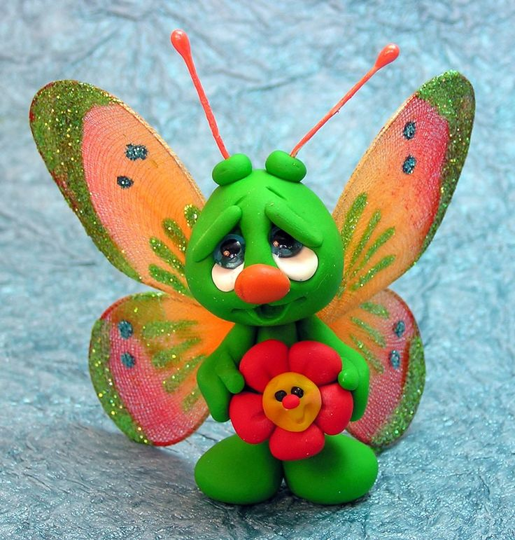 OOAK Hand Sculpted Polymer Clay Butterfly and por CanterberryTails