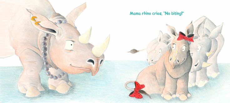 RHINO RUMPUS by VICTORIA ALLENBY, illustrated by TARA ANDERSON—a lively story that will warm the heart of any frazzled parent!