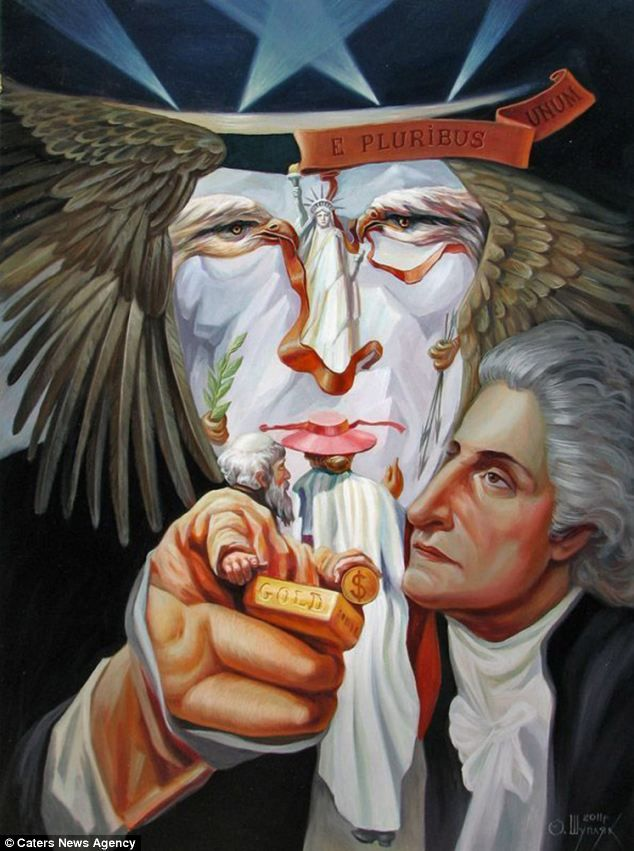 oleg shuplyak illusion painting uncle sam. Read Full article: http://webneel.com/webneel/blog/10-amazing-hand-painting-illusions-ray-massey-and-annie-ralli | more http://webneel.com/paintings . Follow us www.pinterest.com/webneel