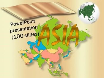 This is a beautiful and informative 100 slide PowerPoint presentation. This is a super fun slide show. I've given you 10 pages to look at in the Download Preview.ASIA*Afghanistan *Armenia *Azerbaijan*Bahrain *Bangladesh *Bhutan *Brunei  *Burma*Cambodia   * China*East Timor *Georgia*India   *Indonesia  * Iran   *Iraq   *Israel*Japan   *Jordan*Kazakhstan   *Kuwait  * Kyrgyzstan*Laos   *Lebanon*Malaysia   *Maldives  * Mongolia*Nepal    *North Korea*Oman  *Pakistan   *Palestine…