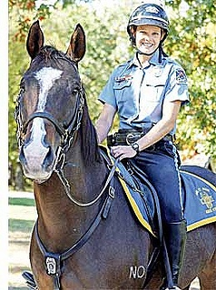 In the News. Kansas City Missouri Police Department. If you ever accused Julia Tomasic of horsing around on the job, she would probably agree with you. After all, she proudly serves the Kansas City as one of its top-notch mounted patrol officers in her job with the Kansas City Police Department. To read the full story click the follwing link: http://www.shekc.com/shestory.asp?section=SportsStories.html=sportsContent/s0612-3.html