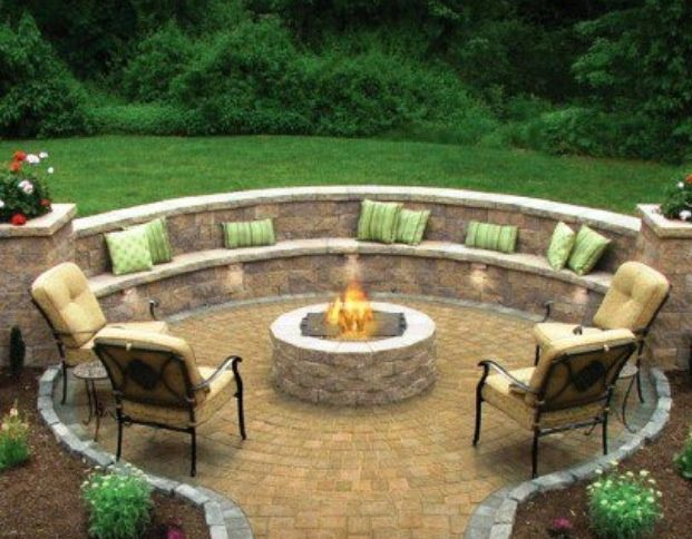 Patio with Fire Pit Ideas | Outdoor patio & fire pit